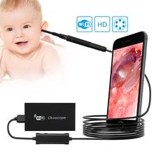 Otoscopio médico F190, lente de 3,9 MM, WIFI, HD720P, vídeo Digital, Otoscopio médico, limpiador de orejas, cámara profesional