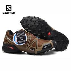 Venda quente salomon velocidade cruz 3 cs iii novo estilo andando tênis de corrida rendas até sapatos esportivos homens correndo sapatos esgrima
