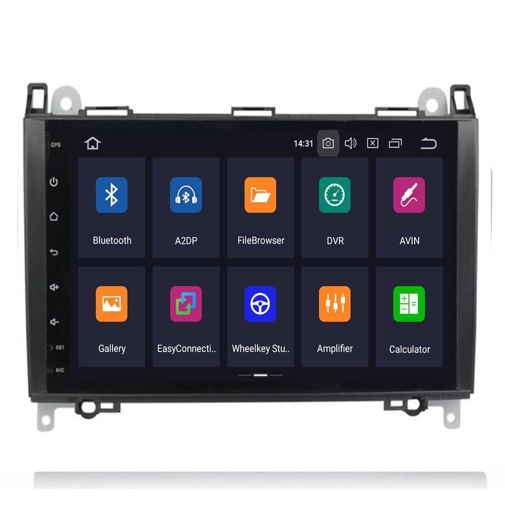 9Inch Android 9 Auto GEEN DVD Radio voor Mercedes/Benz/Sprinter/B200/W245/B170 /W209/W169 VW Crafter met BT 4GWifi GPS Radio 4GRAM - 2