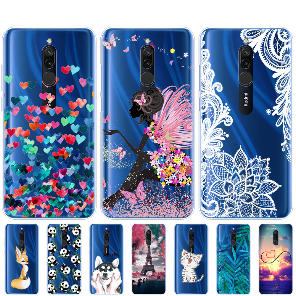 case for xiaomi redmi 8 cases cover soft tpu silicon coque for redmi 8 bumper hongmi 8 bumper copas full 360 Protective fundas