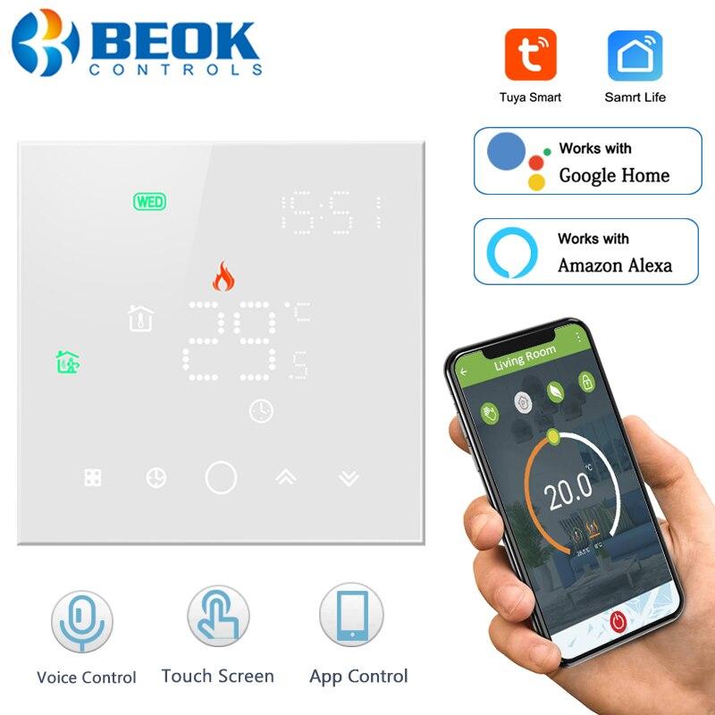 Умный термостат Beok TGW003, Wi-Fi регулятор температуры для газового котла, работает с Google Home Alexa