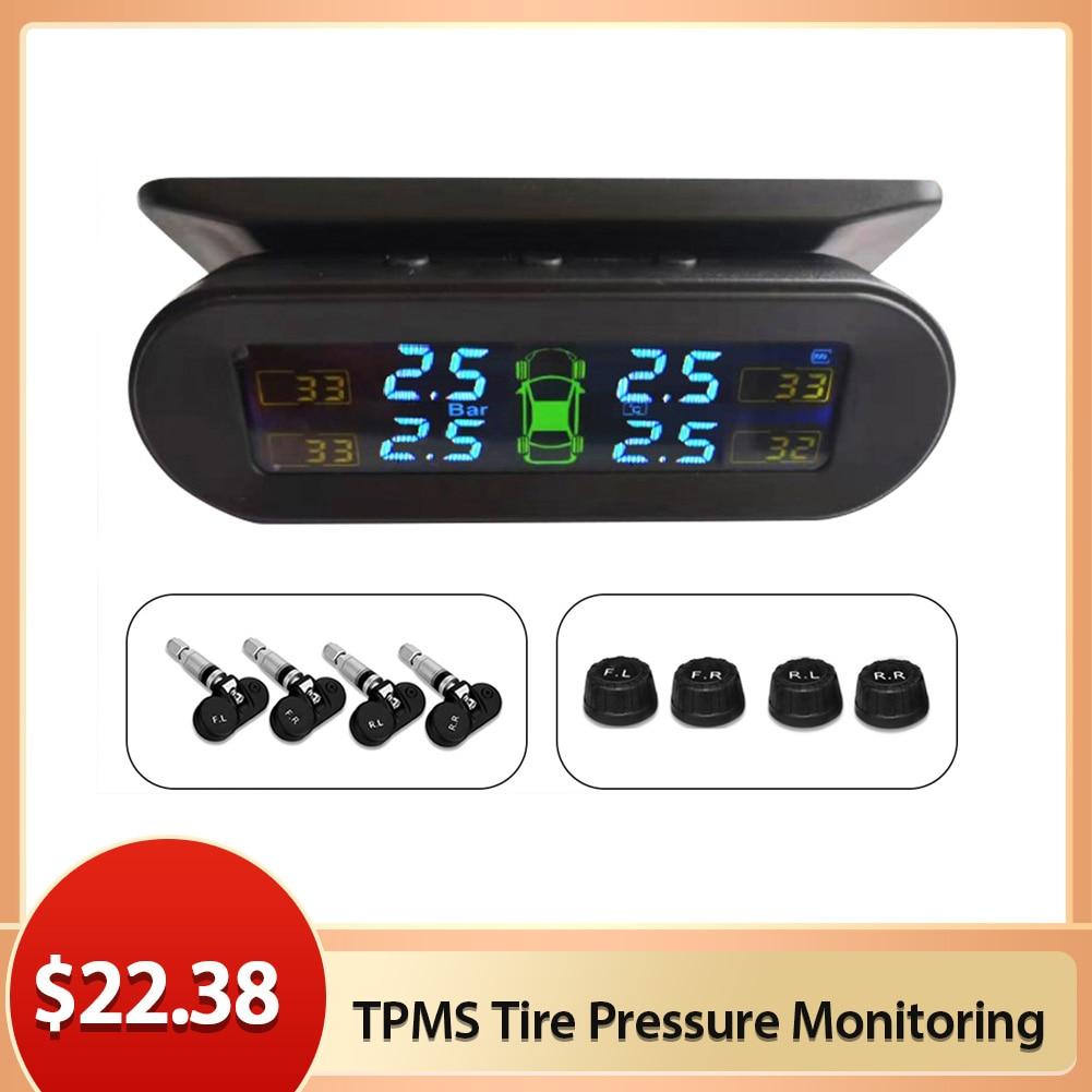 Tpms車のタイヤ空気圧監視システムリアルタイム表示タイヤ空気圧モニタリングシステム外部センサーと組み込みセンサー