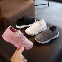 Children Mesh Sneakers Shoes for Boys Girl Breathable Sports Big Size Kids Casual Running 2019 Autumn