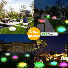 Decorative Night Lights Solar Power Lamp RGB Color Changing Solar Light Wireless Waterproof Garden Lawn Security Lighting