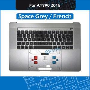 Новый космический серый A1990 Топ чехол с клавиатурой + подсветкой для Macbook Pro retina 15,4
