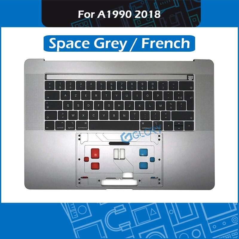 Nouveau Space Grey A1990 boîtier supérieur avec clavier + rétro-éclairage pour Macbook Pro Retina 15.4