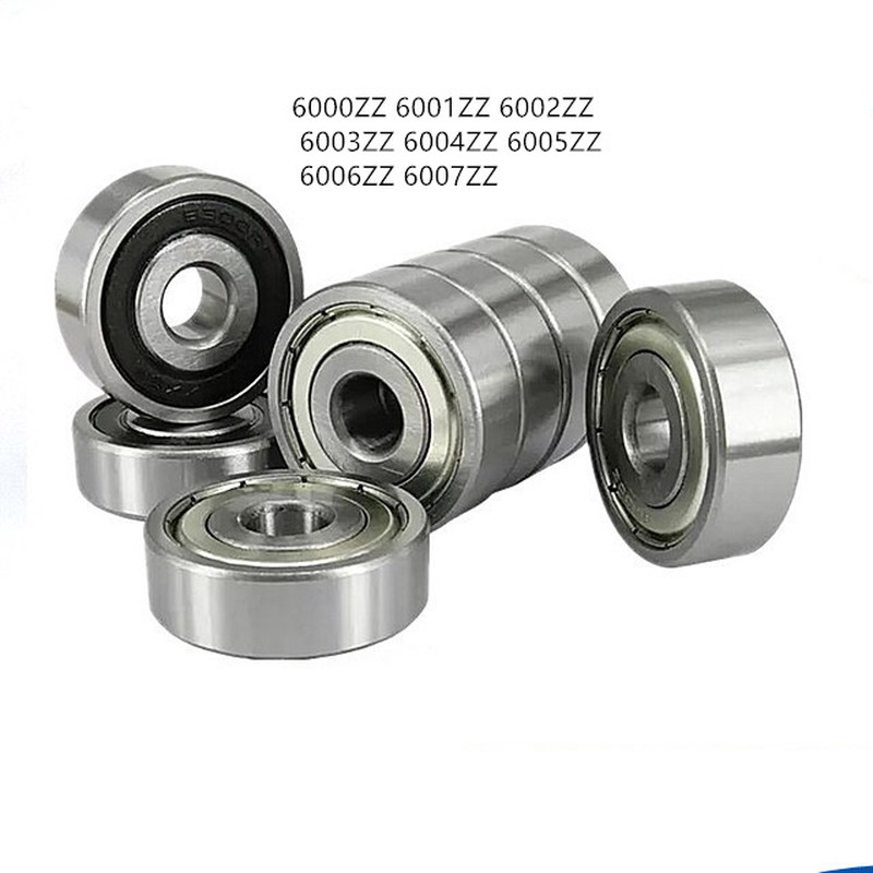 10pc/lot Miniature Ball Bearing 6000ZZ 6001ZZ 6002ZZ 6003ZZ 6004ZZ 6005ZZ Deep Groove Steel Sealed Motor Bearing Parts