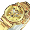 WINNER Watches Women Fashion Watch 2020 Automatic Mechanical Golden Heart Skeleton Dial Stainless Steel Band Elegant Lady Watch 1