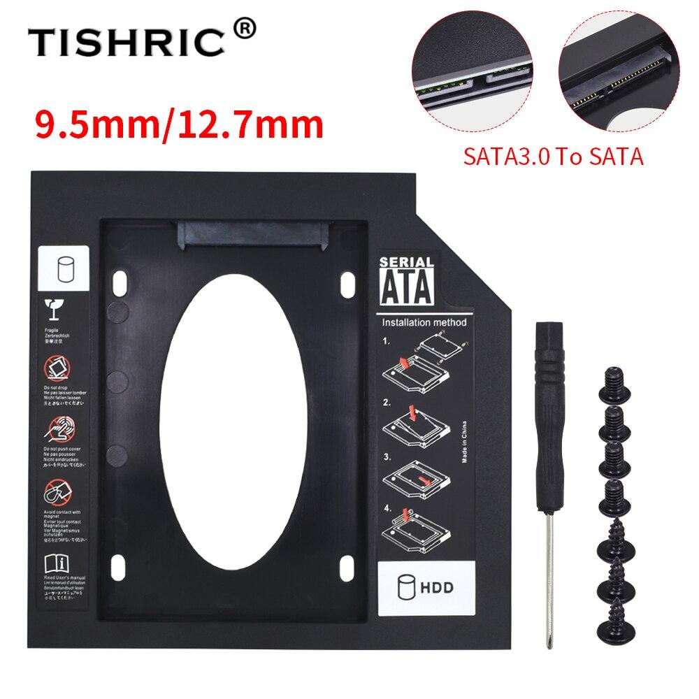 TISHRIC Пластик Hdd Caddy SSD чехол Корпус для жесткого диска SATA 2,5 жестких дисков жесткий диск для ноутбука CD-ROM DVD-ROM оптического устройства