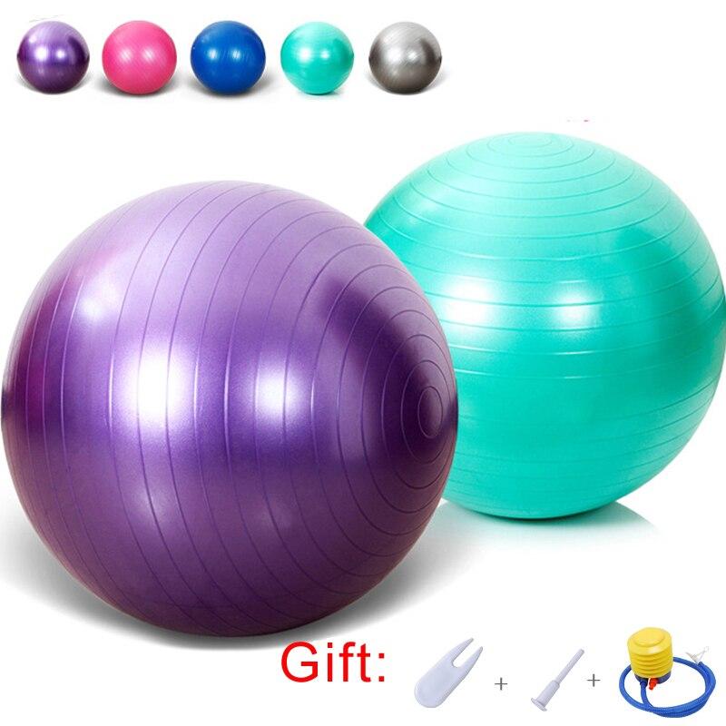 5 Color Anti-Burst Yoga Balls Home Exercise Pilates Fitness Balance Ball Outdoor Sports Health Training Equipment Round Ball