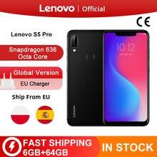 Ursprüngliche Globale Version Lenovo S5 Pro 6GB 64GB Snapdragon 636 Octa Core Smartphone 20MP Quad Kameras 6,2 zoll 4G LTE Handys