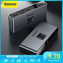 Baseus 4K HD Schalter HDMI-compat Adapter für Xiaomi Mi Box HD Switcher 1x 2/2x1 für PS4/3 TV Box Schalter 4K HD Bi-Richtung Schalter