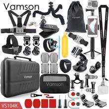 Vamson dla akcesoria Gopro zestaw dla Eken H9R dla Gopro Hero 8 7 6 5 4S góra statyw do selfie dla Yi 4K dla Mijia Kit VS104F