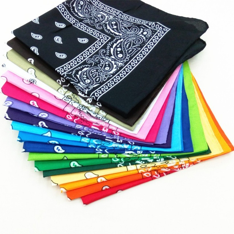 1PC High Quality Headtie Square Scarf Unisex Bandana Hip Hop Black Paisley Headwear Hair Band Scarf Neck Wrist Wrap Band #2019