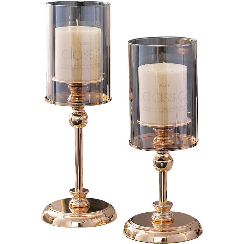 Crystal Outdoor Candle Holder Glass Stand Romantic Candlestick Nordic Glamour Luxury Kaarsenhouder Candlestick Decor BA60ZT