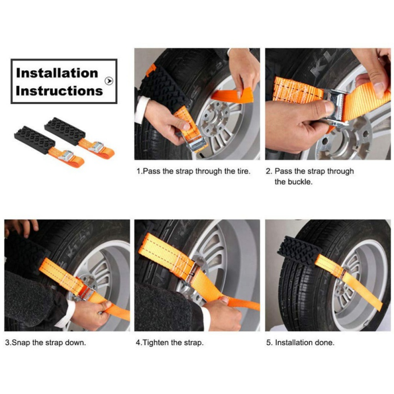 anti-skid tire strap instruction