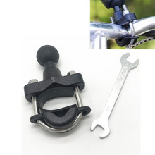 Motorcycle Handle Bar Rail Mount 37mm Width U Bolt Mounting Base with 1 inch Ball for Gopro GPS work