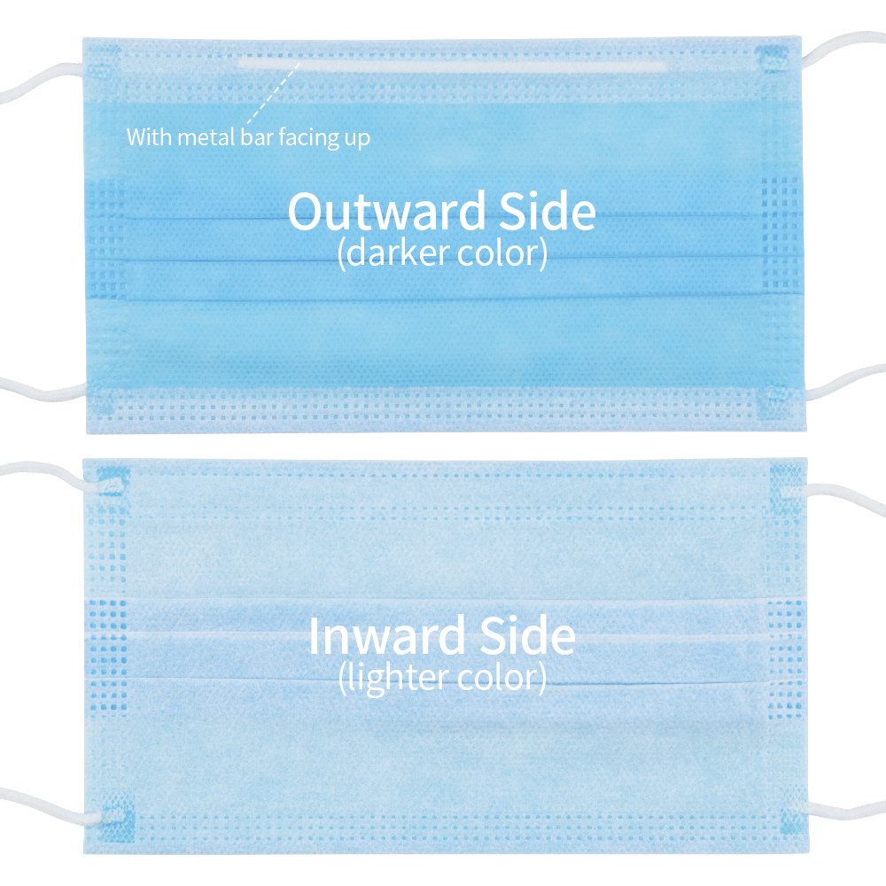 Image 3 - Pack of 10/20/50 Disposable Surgical Face Mask Medical Masks with EarLoop 3 Layer