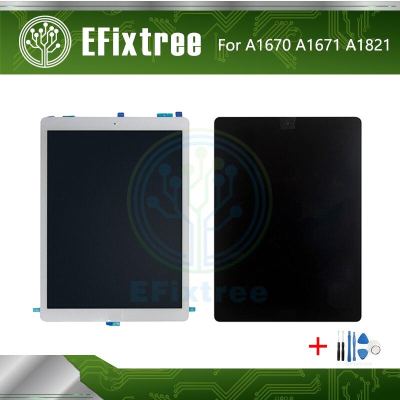 """Nouveau noir blanc A1670 A1671 A1821 écran LCD affichage pour iPad Pro 12.9 """"2nd génération numériseur écran tactile LCD assemblage"""