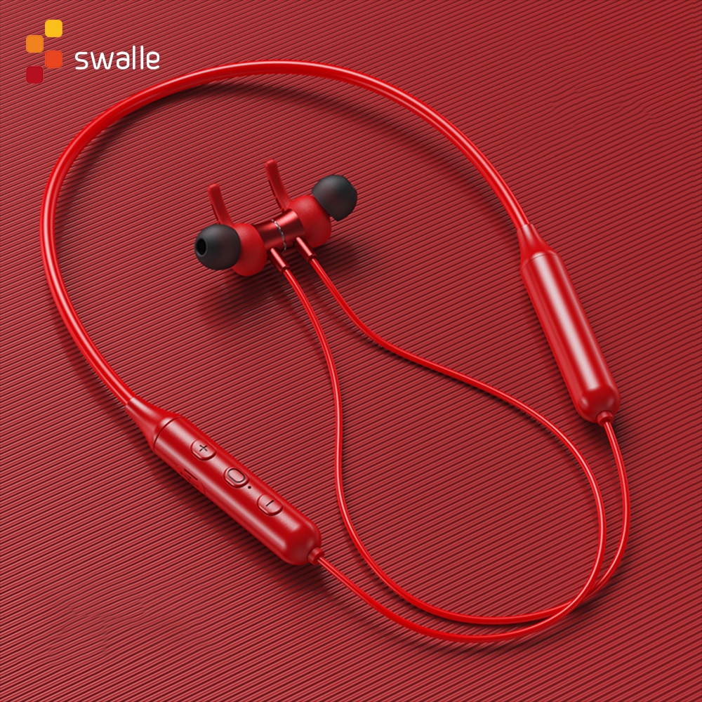 Magnetic Wireless Bluetooth 5.0 Earphones Neckband Stereo Headset Handsfree Waterproof Earbuds With Mic Bluetooth earpiece 1