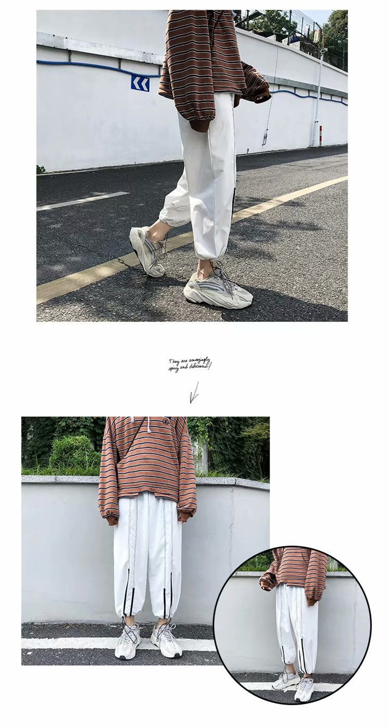Summer Loose Casual Ankle-Length Pants Thin Men`s Women Jogger Pants Fashion Teens Boys Girls Joggers Sports Striped Trousers (2)