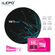 ILEPO HK1 PLUS Great Bee Arabic Iptv Box TV BOX Android Box  Amlogic S905X Quad-core 64-bit Smart Tv HDMI 2.0 Iptv Subscription купить недорого в Москве