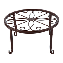 3 Colors European Style Metal Flower Pot Rack Bonsai Potted Plant Stand Household Sitting Room Balcony Flowerpot Shelf 24*13cm flower stand flower pot rack single floor type wrought iron european style indoor living room hanging orchid plant rack