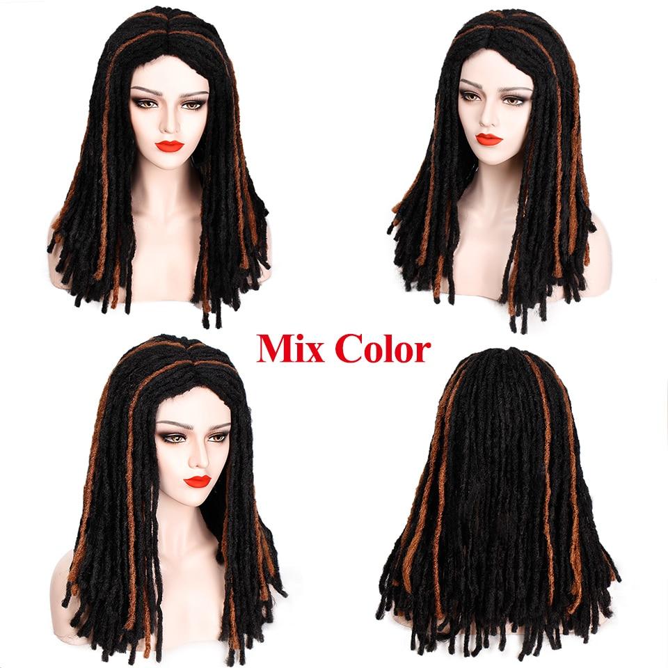 Штампованный славный 14 дюймов синтетический парик микс коричневый плетение волос плетеные парики для черных женщин средняя часть термостойкого волокна