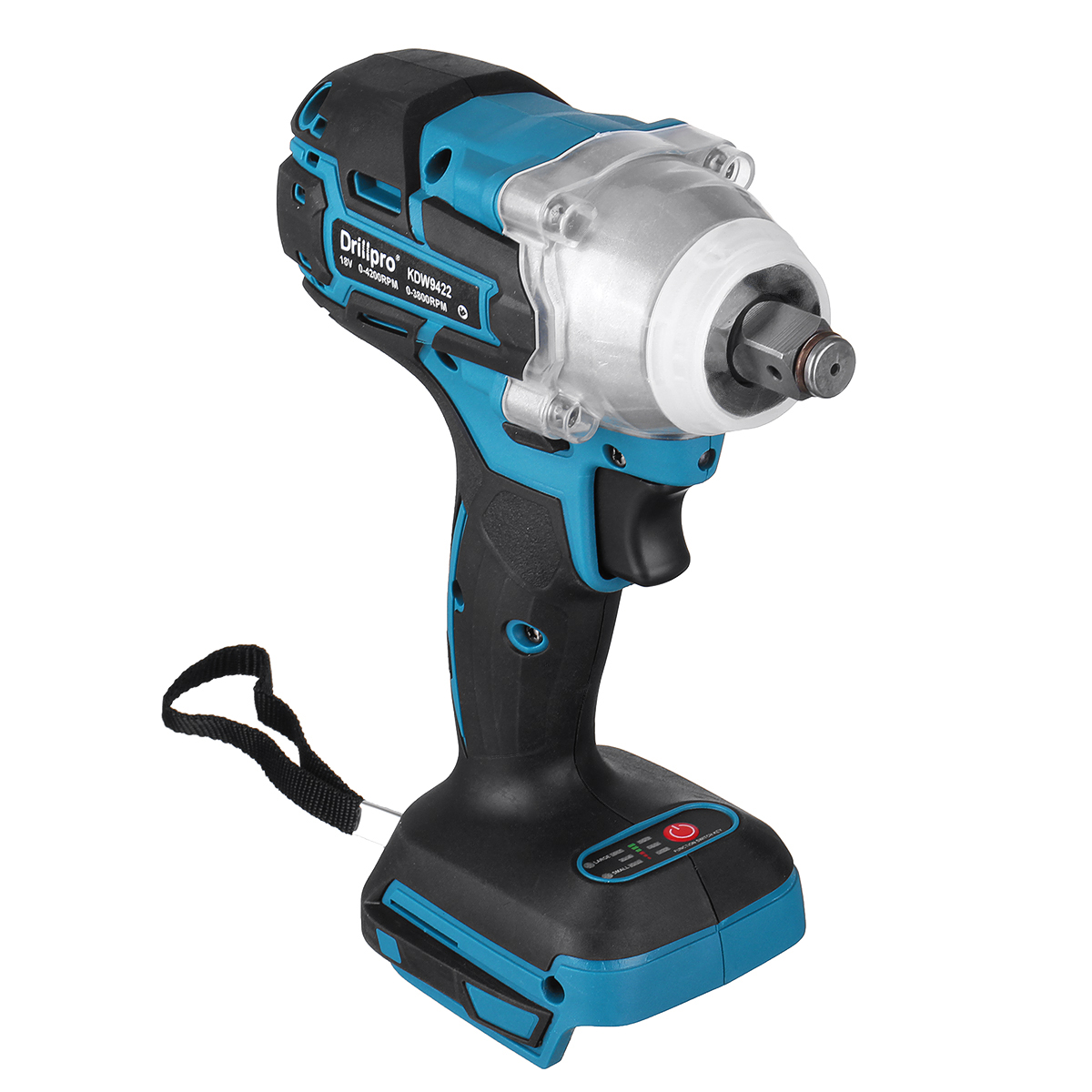 Tools : Drillpro Cordles Brushless Electric Impact Wrench 1 2 inch Power Tool With LED Light for Makita 18V Battery  Tool Only