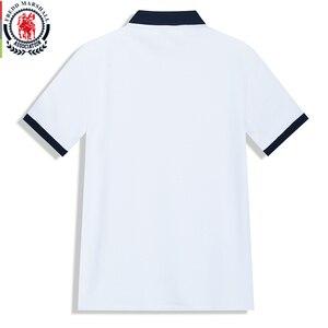 Image 2 - Fredd Polo Marshall 2020 para hombre, camiseta informal de negocios de manga corta, Polo de hombre, polos a rayas de moda 502