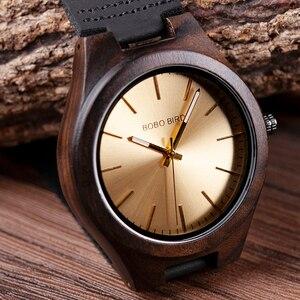 Image 5 - Bobo Vogel Houten Ebbenhout Horloge Mannen Quartz Horloges Mannelijke Hout Masculinos Relogio Masculino In Geschenkdoos Custom Logo Kol Saati