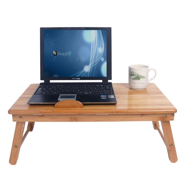 53cm Trendy Adjustable Bamboo Computer Desk Wood Color ,  Gaming Desk ,lap Desk, Bed Table , Office Desk , Study Table.