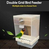 425ml/850ml Capacity Acrylic Parrot Integrated Automatic Bird Feeder pet feeder Birds Feeding Box Birds Cage Accessories|Bird Feeding| |  -