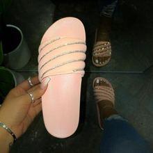 Шлепанцы женские розовые повседневные сандалии на плоской подошве