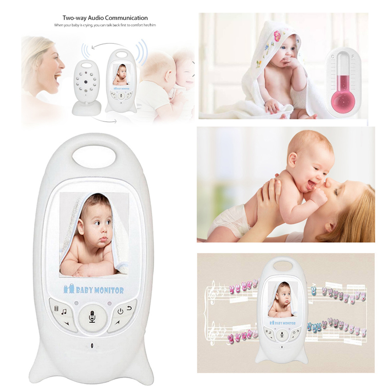 Wireless Video Color Baby Monitor Night Vision Baby Security Camera V601 Temperature Baby Babyfoon Wifi Smart Net Camera