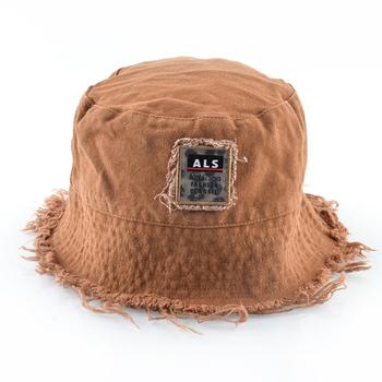 Fashion Bucket Hat For Women Solid Color Floppy Cap With Tassel Breathable Sun Hat Men Outdoor Casual Anti-UV Visor Beach Hats 2