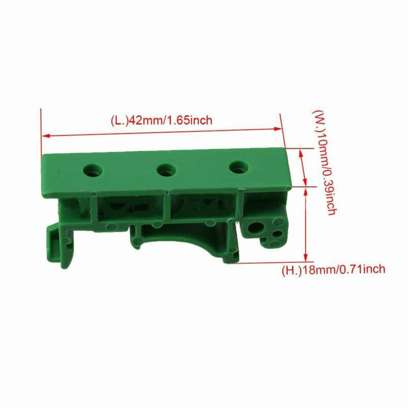 10Pcs 5Set DRG-01 PCB DIN 35 Penahan Rel Pemasangan Dukungan Adaptor Papan Sirkuit Bracket Pemegang Carrier Klip Konektor dengan Sekrup
