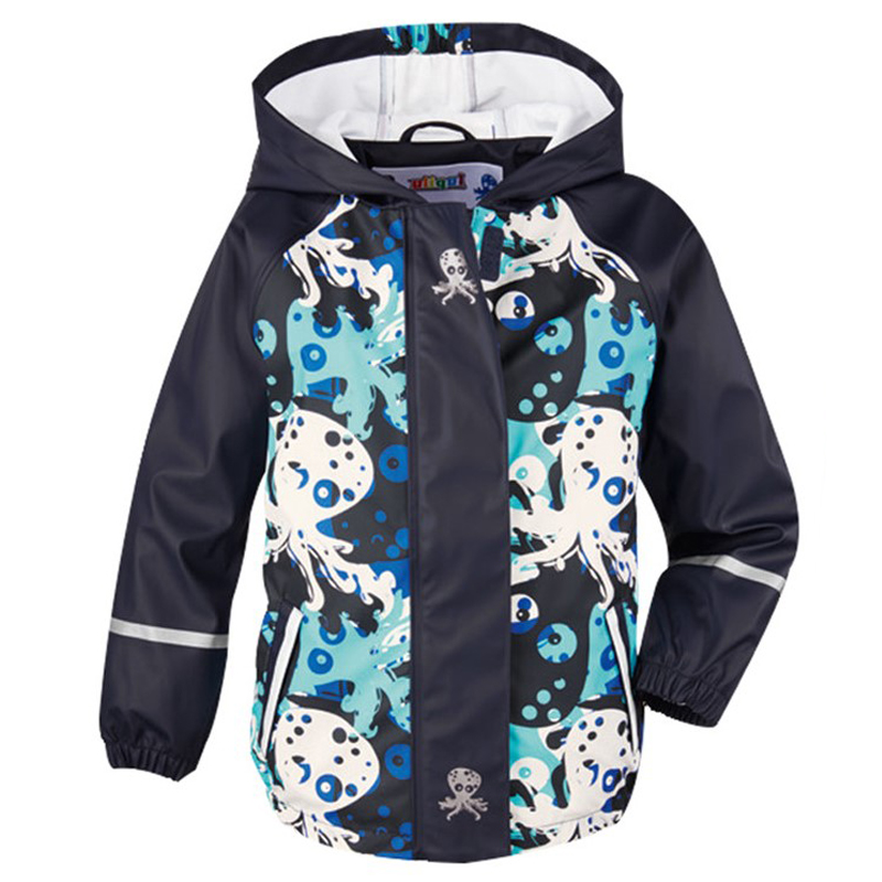 Spring, summer and autumn new children's PU leather poncho raincoat waterproof windproof 2