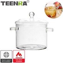 Pot Cooker Noodle-Bowl Salad Kitchen-Supplies Glass Soup Porridge Instant Transparent