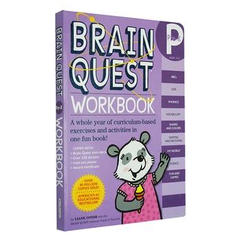 Brain Quest Workbook Kindergarten Children's Puzzle Workbook Kindergarten Preschool English Enlightenment Learning  Workbook