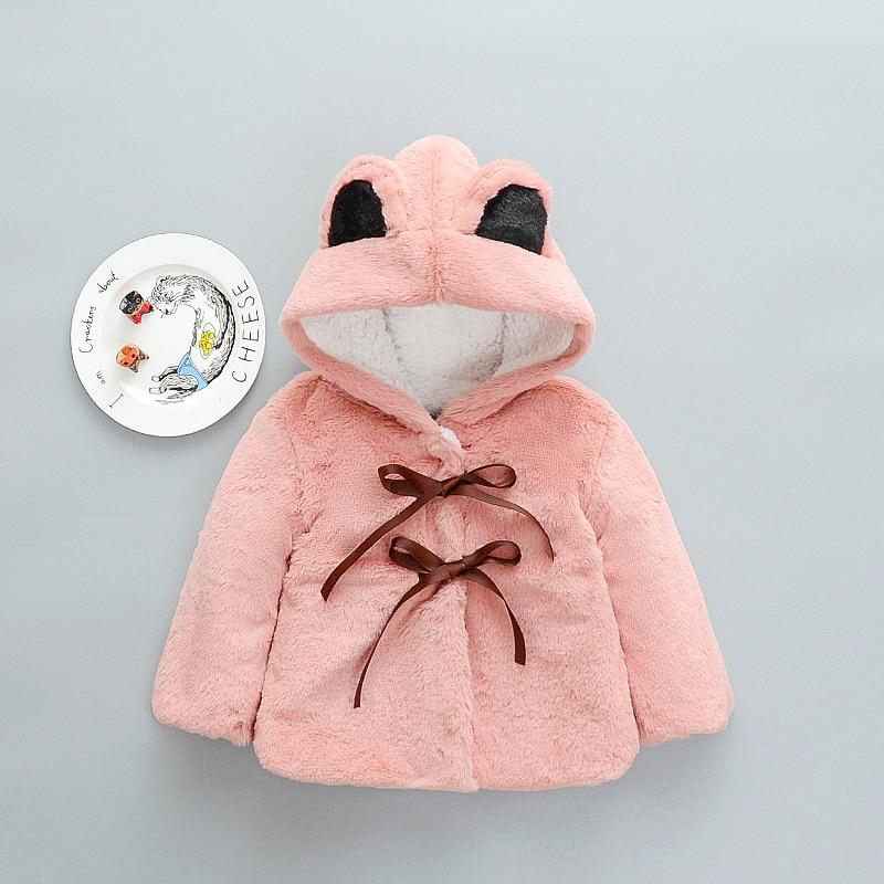 Style Coats For Girls Baby Girls Warm Fur Bunny Wool Coats High Quality Girls Outerwear & Coats Children Toddler Tops Winter