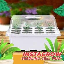 Macetas humectantes para jardín y guardería caja semillero para vivero de bandeja para jardín... C50 1 unidad