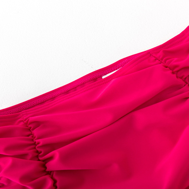 WOMEN'S Dress Women's High-waisted Belly Covering Triangular Swimming Pants Slimming Stretch Marks Alone Pants Rose Red Bikini S