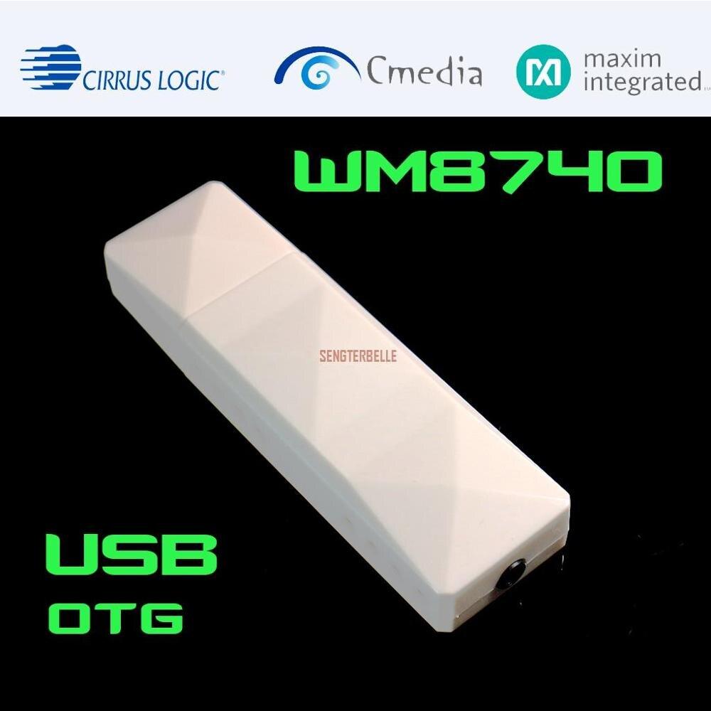 WM8740 USB Portable DAC HIFI décodeur de carte Audio externe pour WN7 WIN8 WIN10 amplificateur dordinateur 48K 16bit