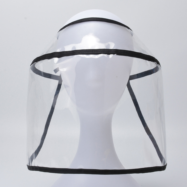 Transparent Adults Unisex Anti-spitting Hat Dustproof Cover Cap Bucket Hat Virus Protection Caps Face Mask For Flu Fisherman Cap