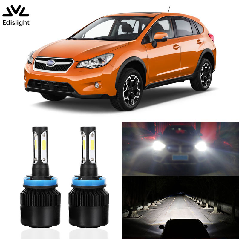 Edislight Car Led Headlight Low Beam Headlamp H8 H9 H11 For Subaru XV Crosstrek 2013 2014 2015 Light Canbus No Error Accessories