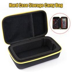 Черный Жесткий чехол EVA для хранения, водонепроницаемая Противоударная сумка с сетчатым карманом для защиты цифрового мультиметра F117C/F17B