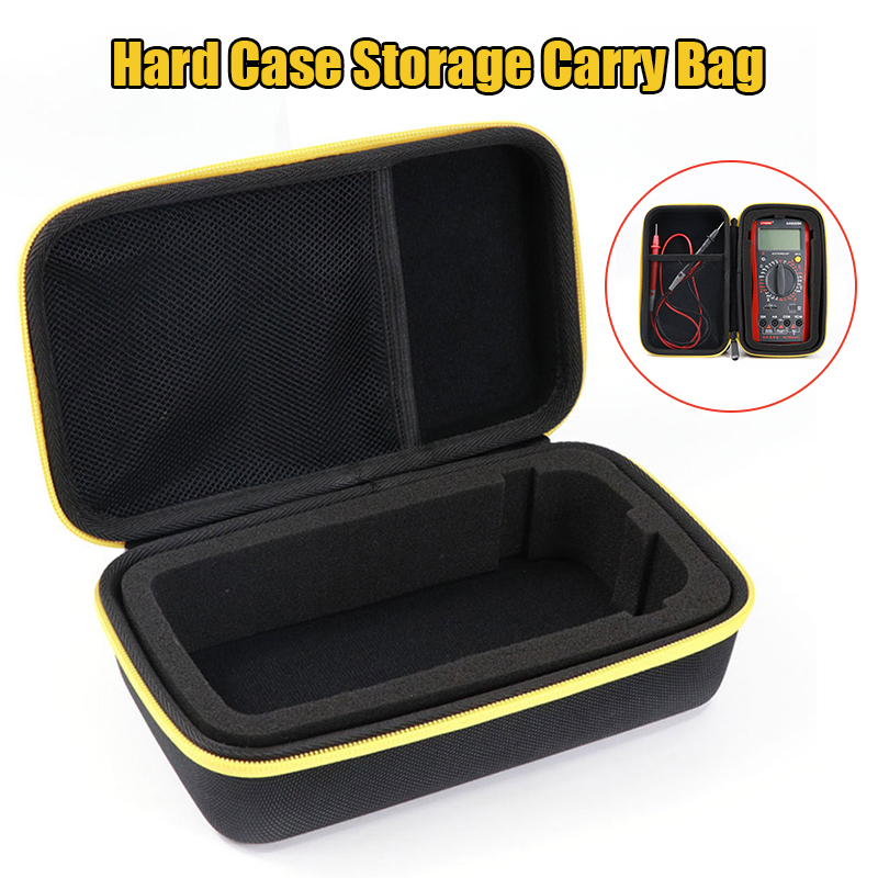 Black EVA Hard Case Storage Waterproof Shockproof Carry Bag With Mesh Pocket For Protecting F117C/F17B Digital Multimeter