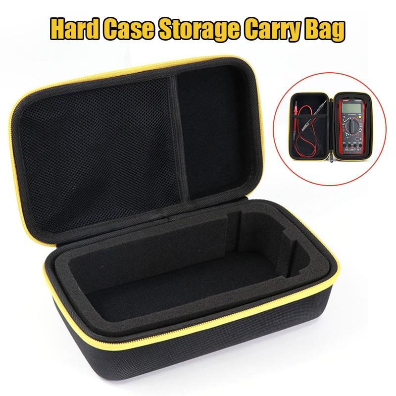 Black EVA Hard Case Storage Waterproof Shockproof Carry Bag With Mesh Pocket For Protecting F117C/F17B Digital Multimeter
