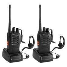 2 шт./лот BAOFENG BF-888S рация UHF двухстороннее радио baofeng 888s UHF 400-470 МГц 16CH портативный приемопередатчик с наушником